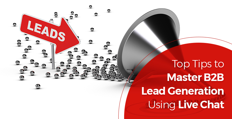 B2B Lead Generation using live chat